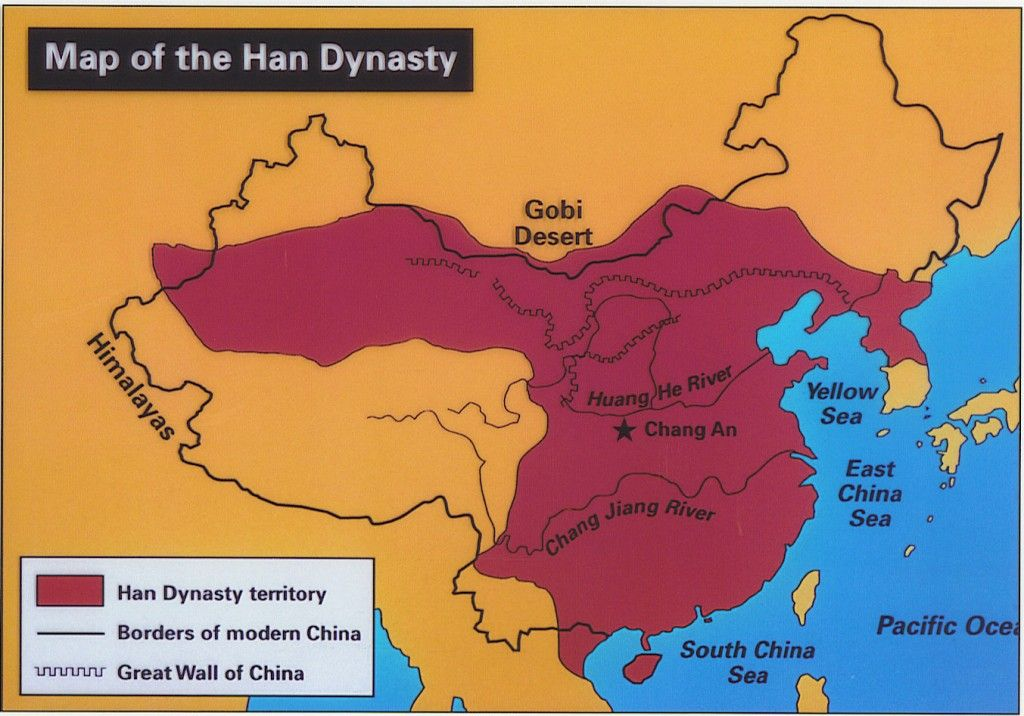 Han Dynasty BC AD Second Imperial Dynasty Of China - Chang river world map