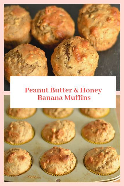 Peanut Butter & Honey Banana Muffins   - Baking -