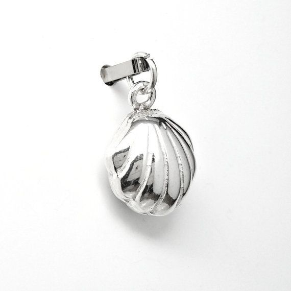 19mm x 13mm Solid 925 Sterling Silver Ballet Slippers Charm Pendant