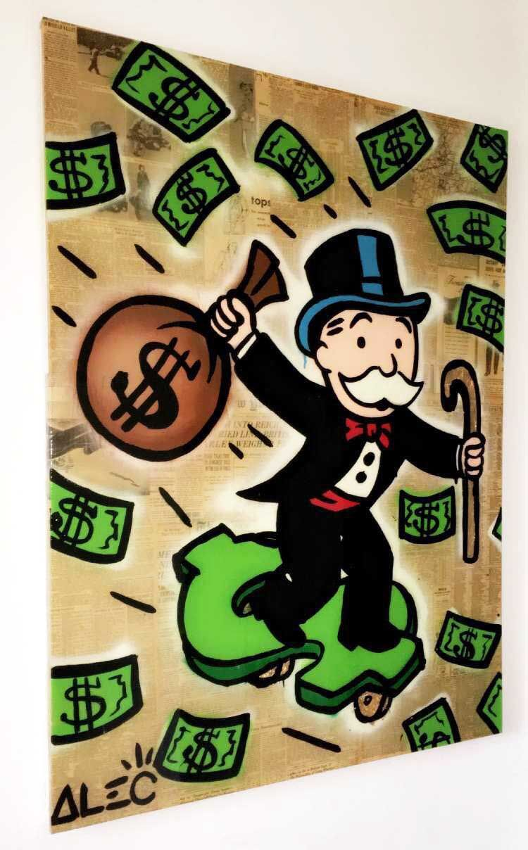 This is an image of Punchy Monopoly Man Drawing