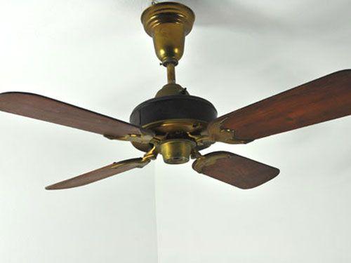 Red Antique Vintage Ceiling Fan