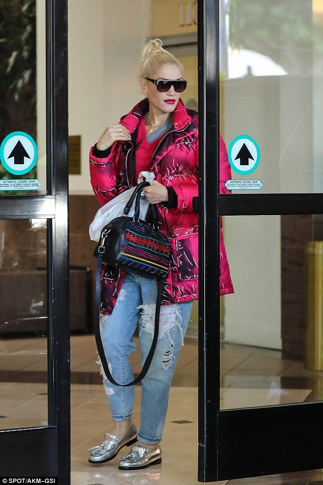 Pump up your winter wardrobe with a pink parka like Gwen   Click 'visit' to buy it now  #DailyMail