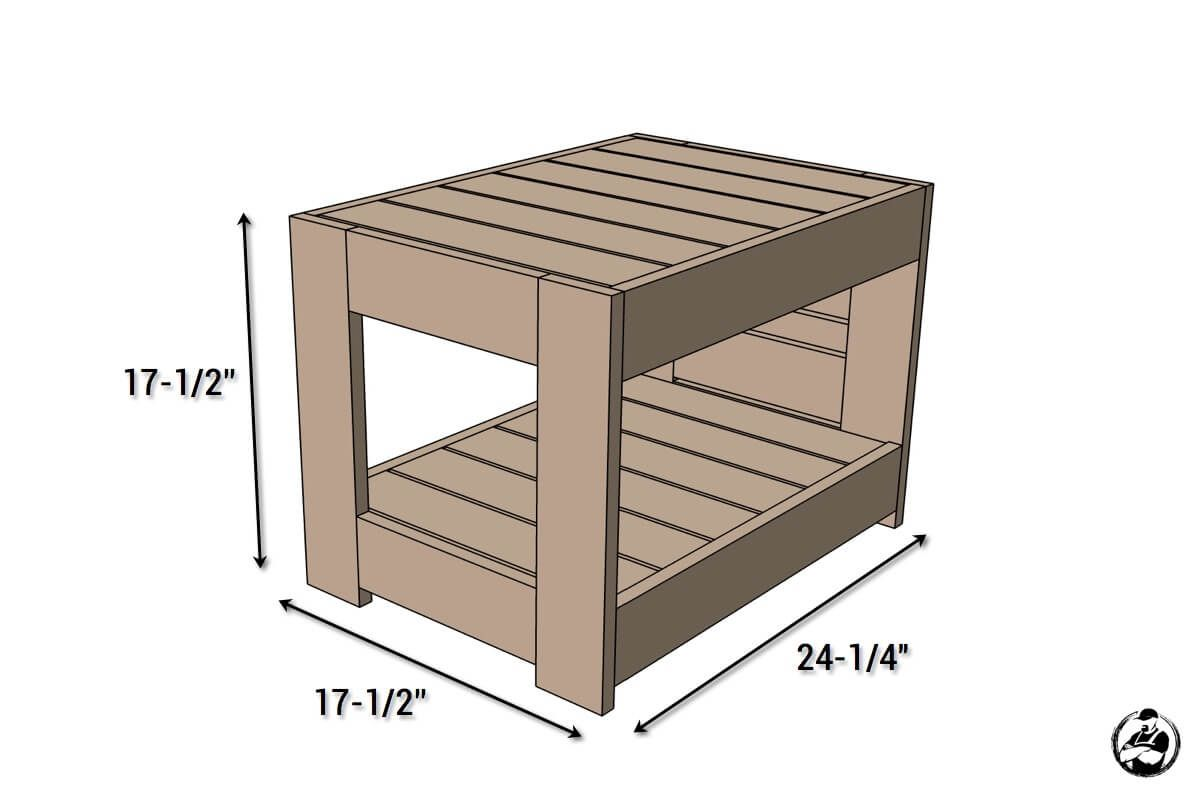 Diy Belvedere End Table Dimensions