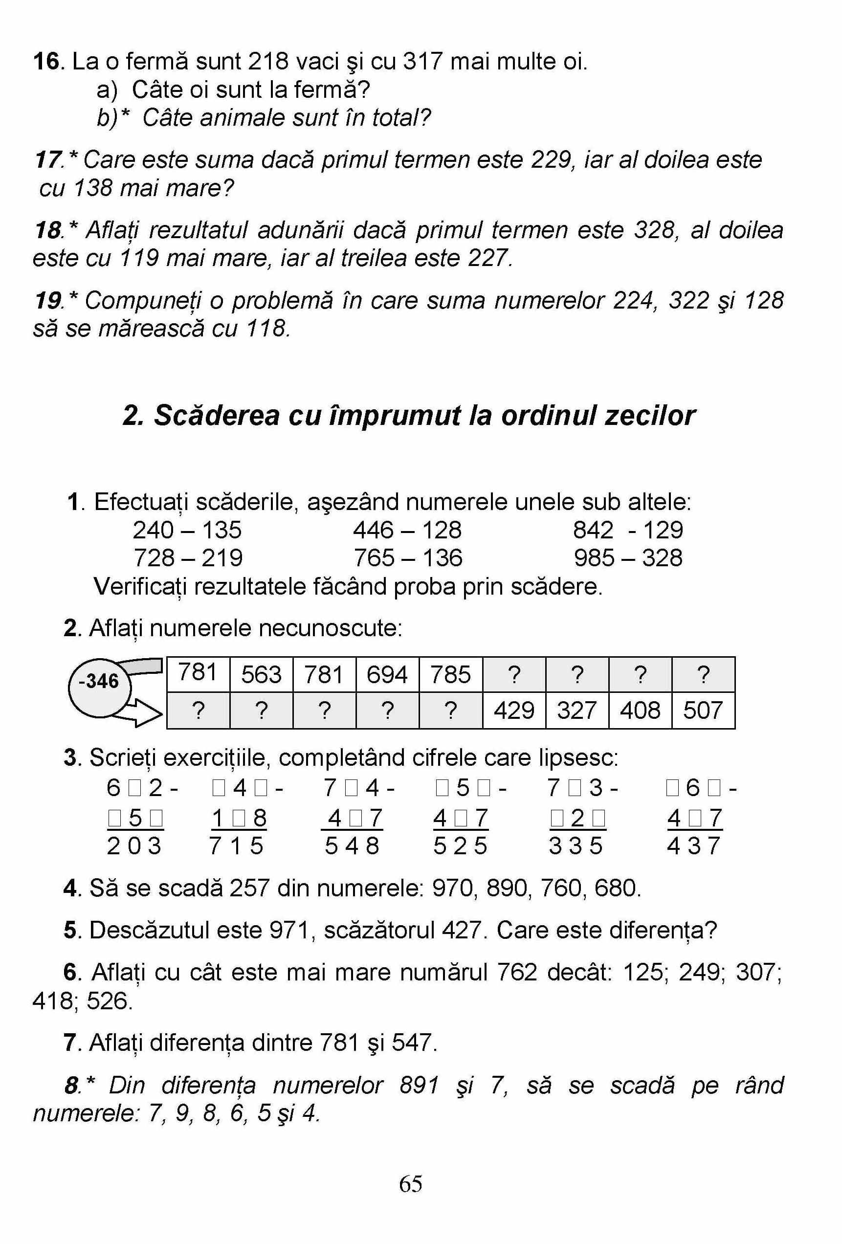 exercitii matematica clasa 1 pdf