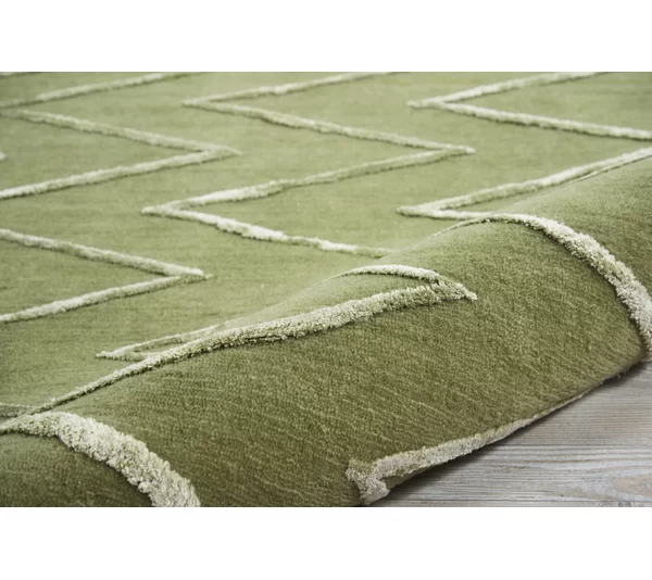 Courville Hand Tufted Kiwi Area Rug In 2021 Rugs Area Rugs Rugs In Living Room
