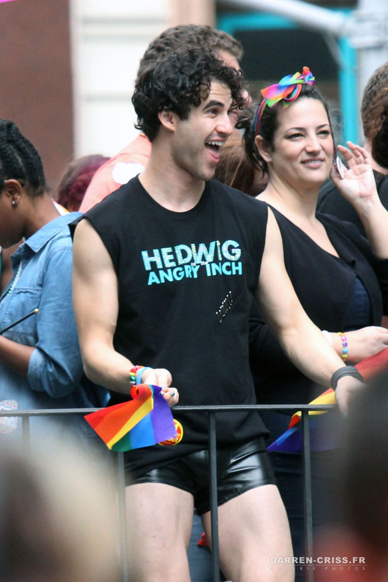Darren Criss In The 2015 Lgbt Gay Pride March In New York