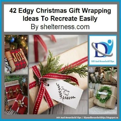 DIY And Household Tips: 42 Edgy Christmas Gift Wrapping Ideas To ...
