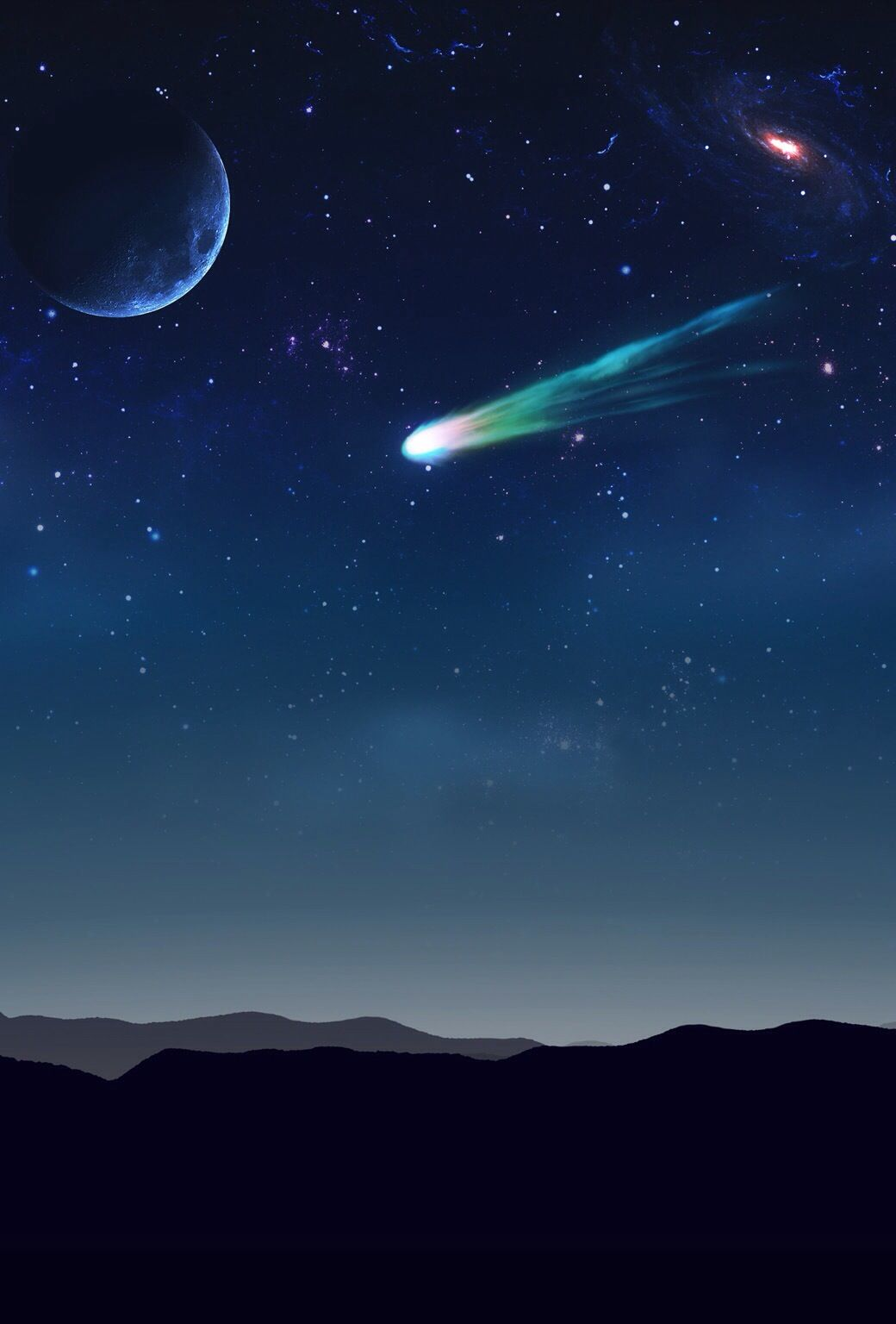 Shooting Star Cool Backgrounds Wallpaper Space Shoot The Moon
