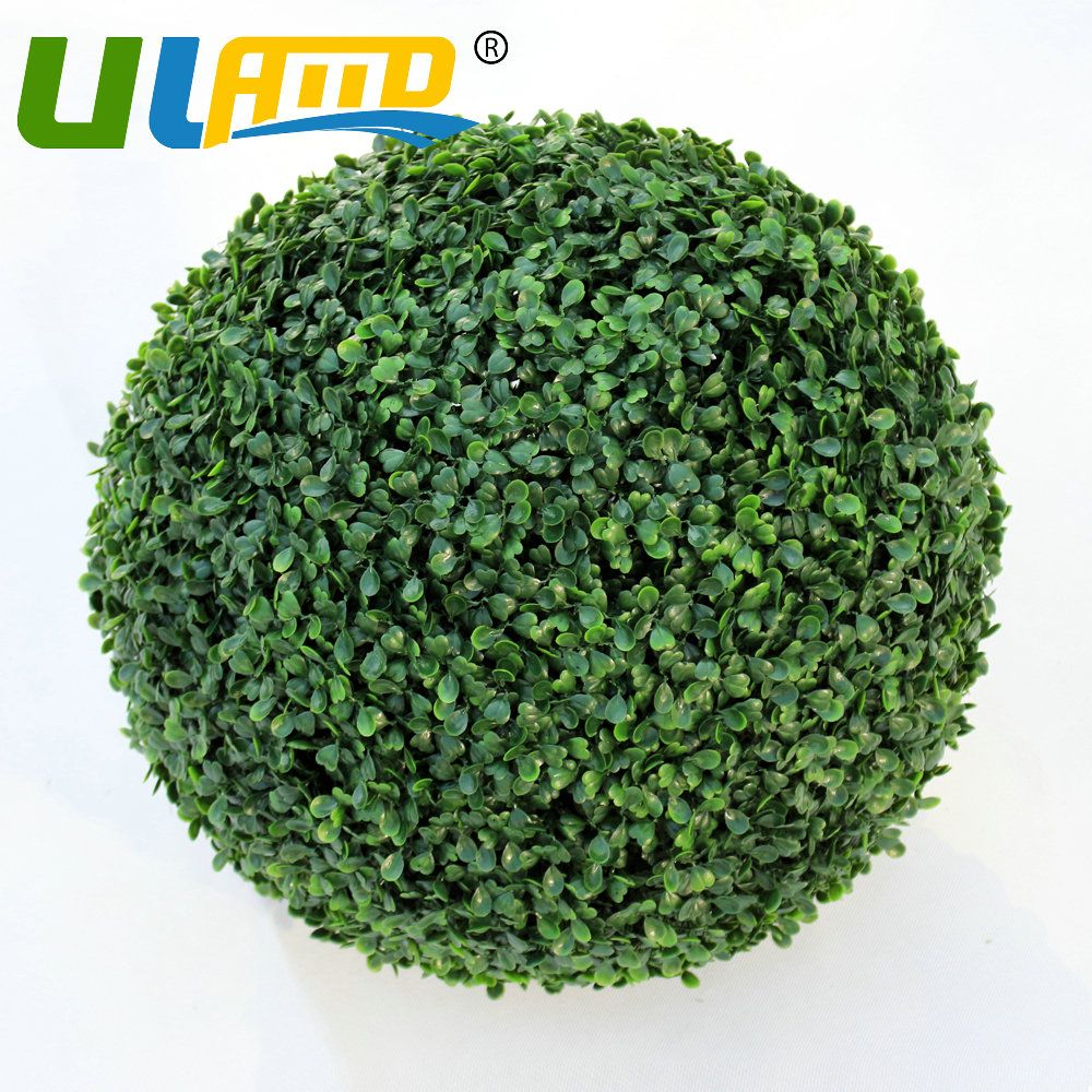 "Decorative Boxwood Balls 15"" Boxwood Ball Inoutdoor Topiary Tree Plant Bush Artificial"