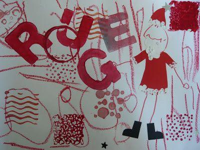 Art visuel productions sur les couleurs novembre petit - Le petit poisson rouge maternelle ...