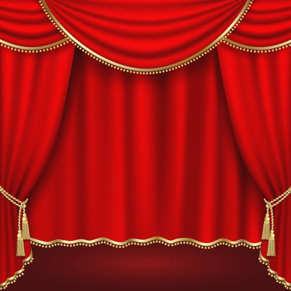 Red Curtains Background Red Curtains Theatre Stage Theatre
