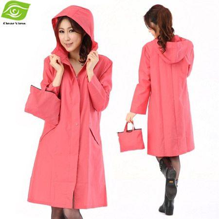 Fashion Lady Trench Coats Hooded Women's Outdoor Rain Coat ...
