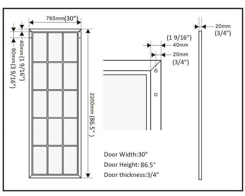Diyhd 30 X 86 5 Inch Black Steel Framed Glass Barn Door Slab Interior Clear Tempered Glass Sliding Barn In 2020 Glass Barn Doors Black Steel Frame Sliding Door Panels