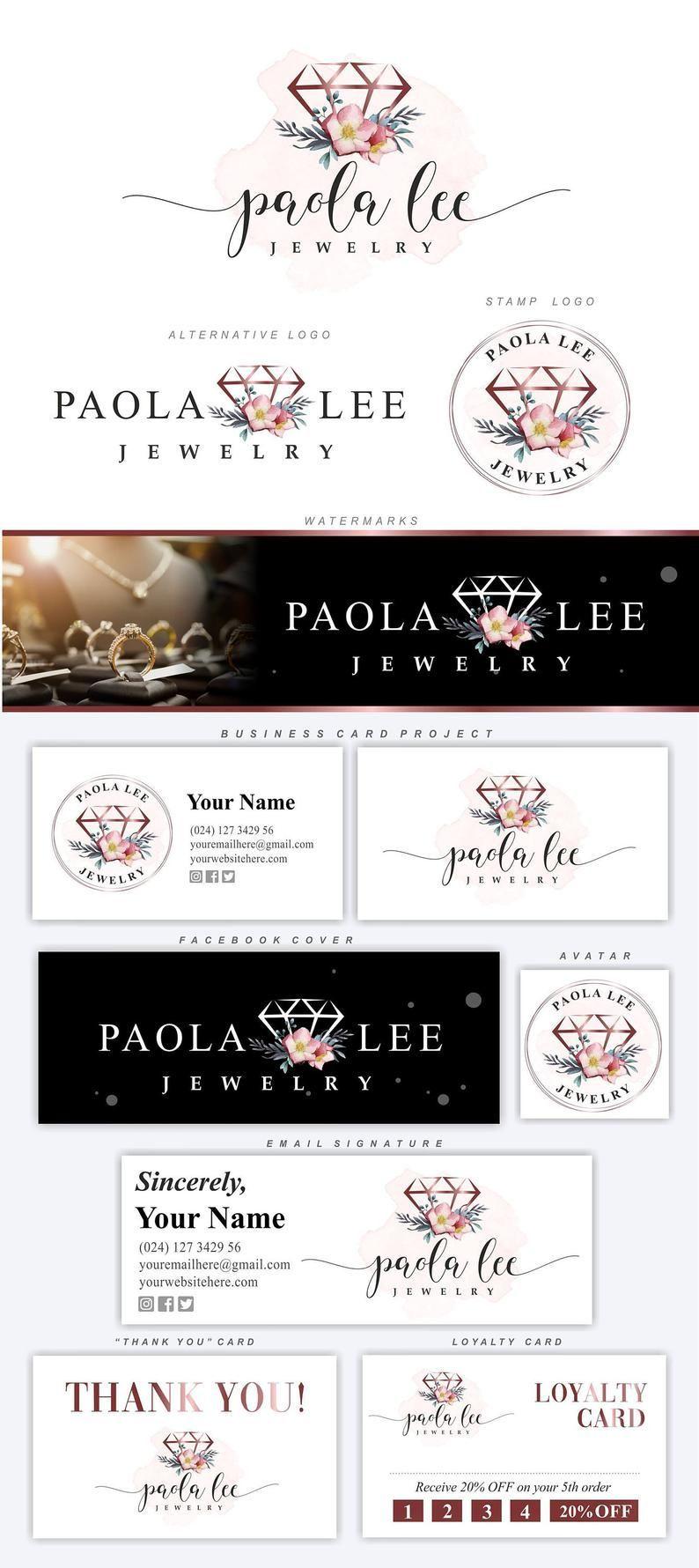 Diamond logo design Jewelry logo package Boutique Branding | Etsy | jewelry logo branding diamonds