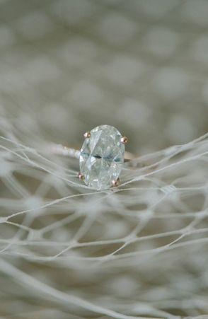 Oval diamond ring (Elizabeth Fogarty via Bayside Bride)