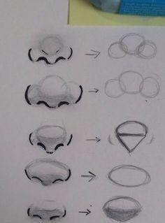 Astuce pour les dessins de visage: ❤️Les différents nez dans le dessin ❤️