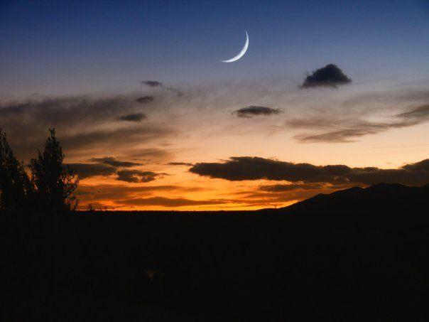 night falls, Tortosa, Spain