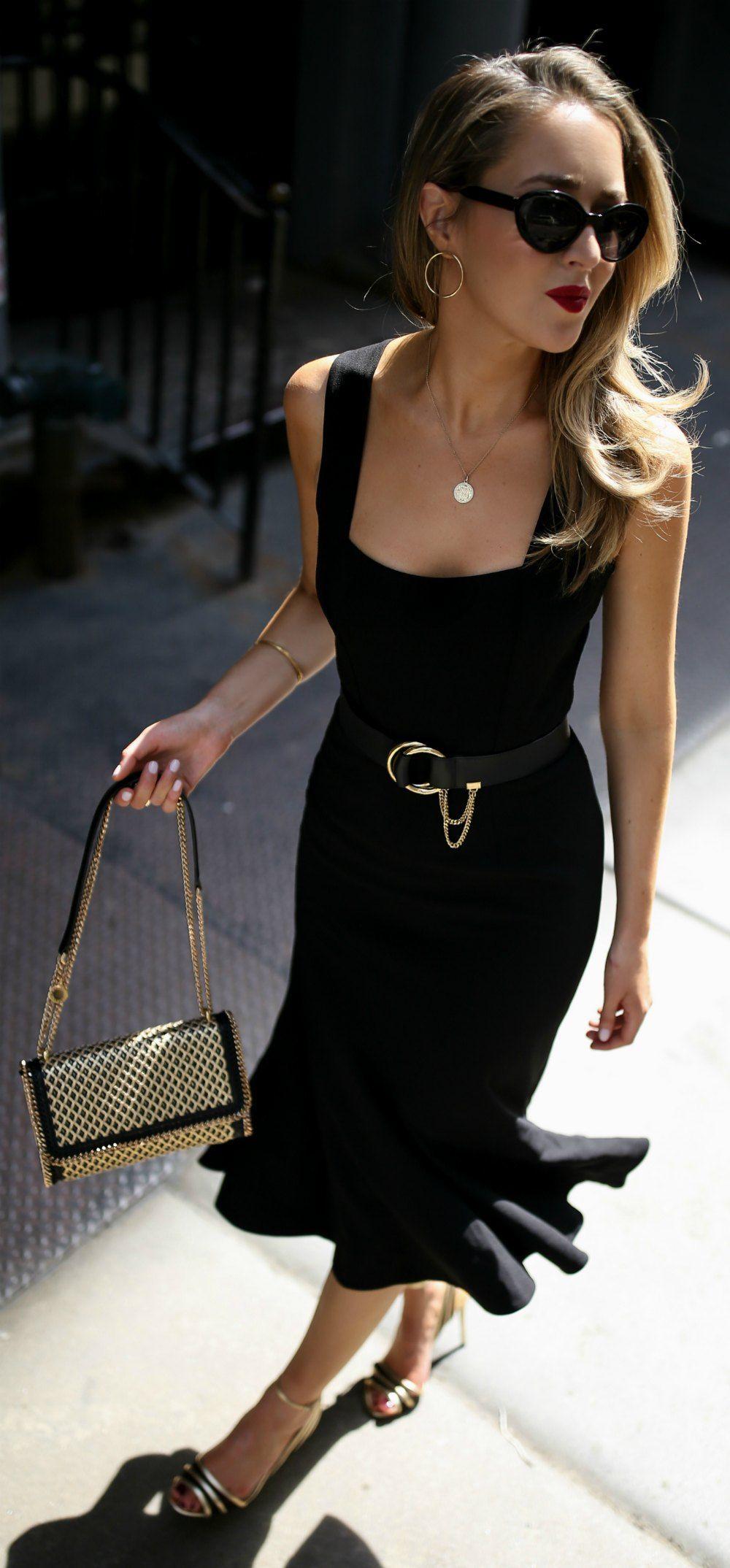 30 Dresses in 30 Days: Date Night // Sleeveless princess hem black ...