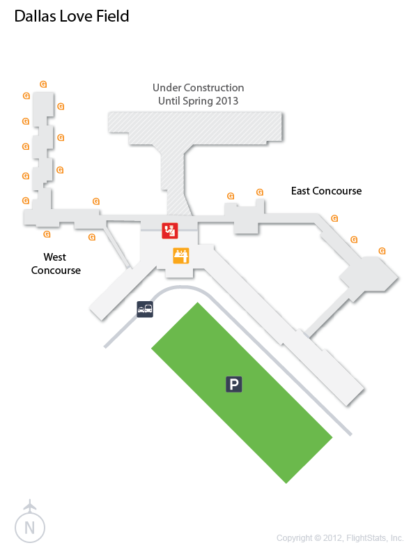 DAL) #Dallas Love Field #Terminal Map #Airport #DFW #Travel ...
