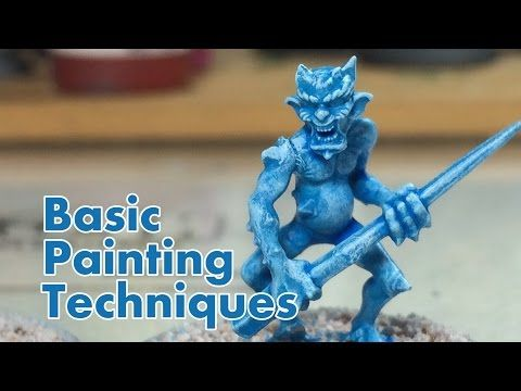 How to Paint Miniatures - The Basics - NPC Chris Vlog 004 - YouTube