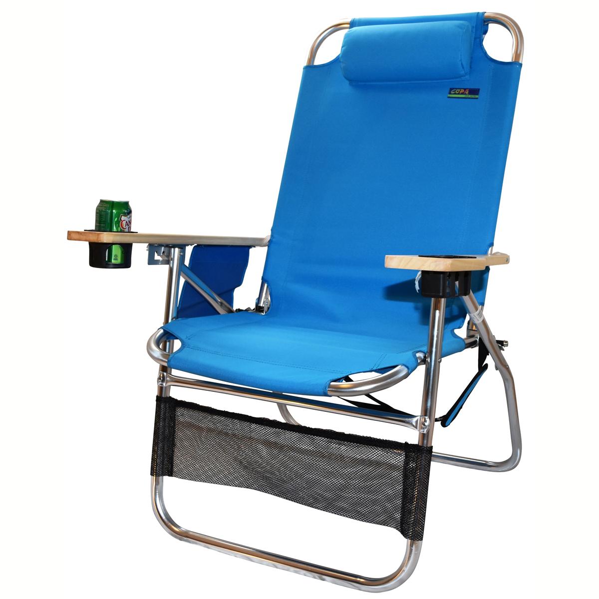 Copa Big Papa 4 Position Beach Chair Light Blue Heavy Duty Beach Chairs Beach Chairs Beach Chairs Diy