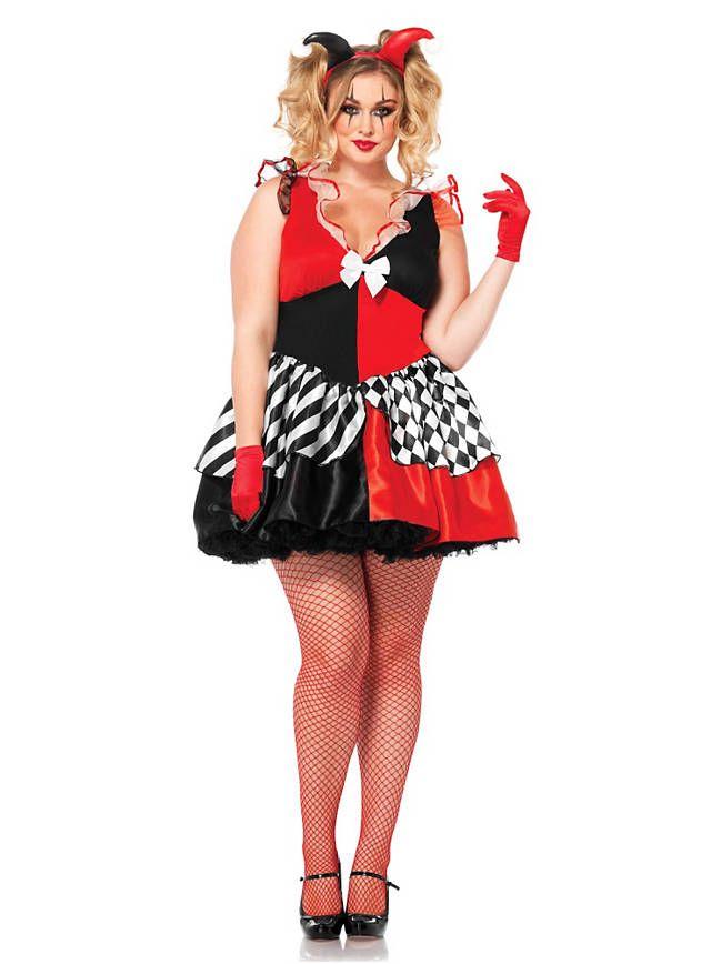 Xxl Kostum Harlekin Curvy Carneval Xxl Kostume Fur Damen
