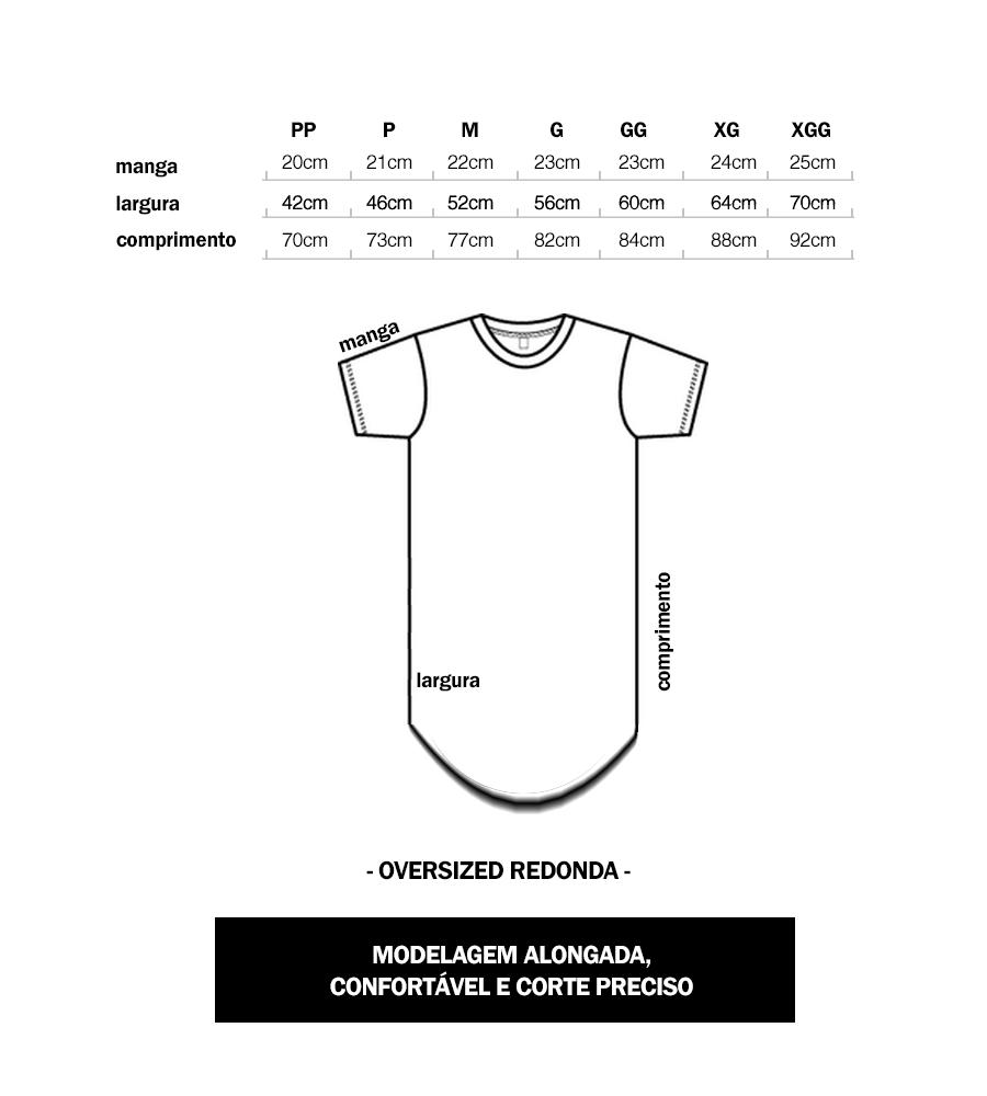 7b96f5554b Camiseta Oversized Longline Redonda Swag Camisa 100% Algodão - R  18 ...