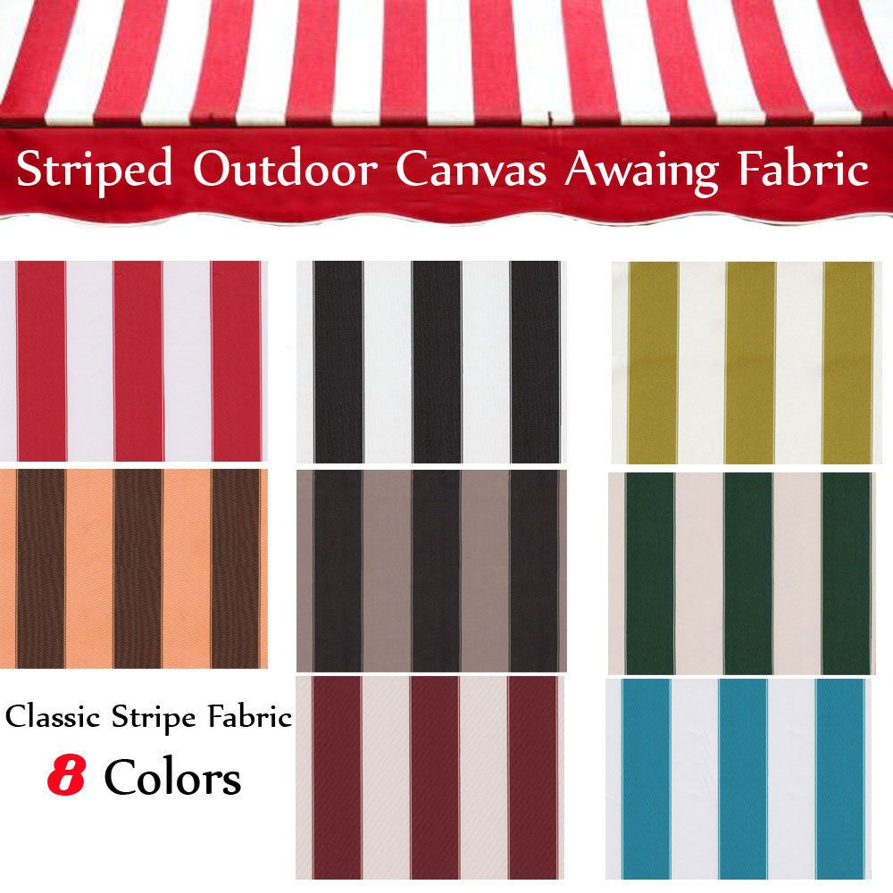 Canvas Awning Fabric STRIPED OUTDOOR FABRIC 60 Wide 600 Denier By The Yard
