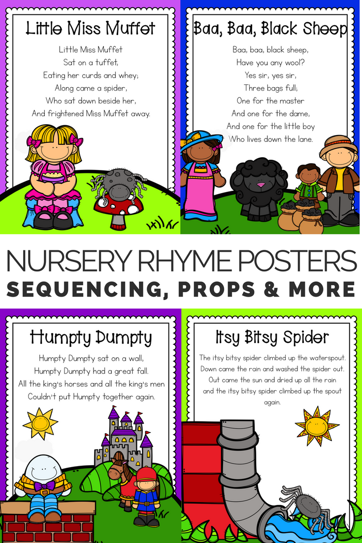 Nursery Rhyme Posters Props Sequence