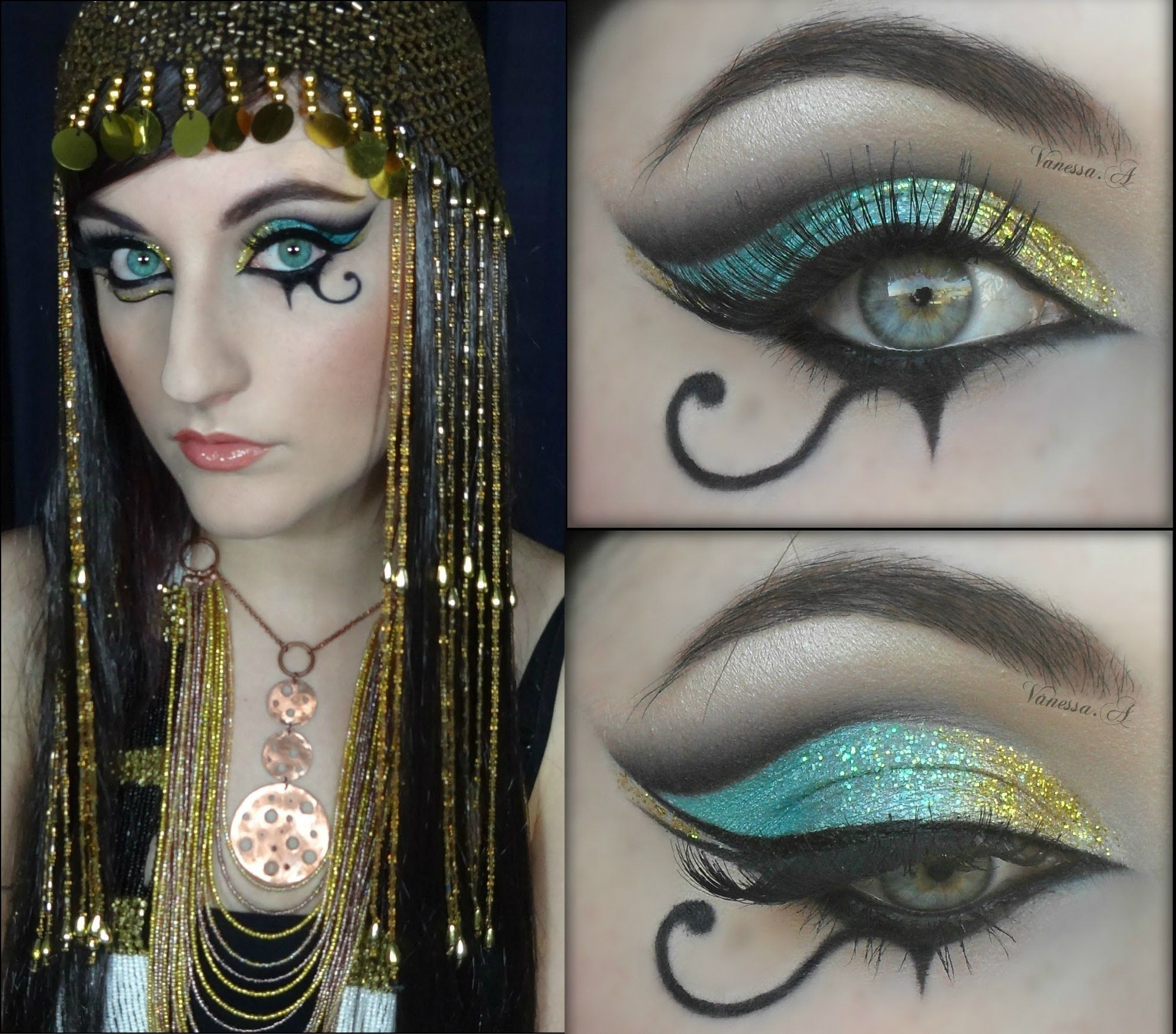 "Katy Perry ""Dark Horse"" Inspired Egyptian Make Up Trucco"