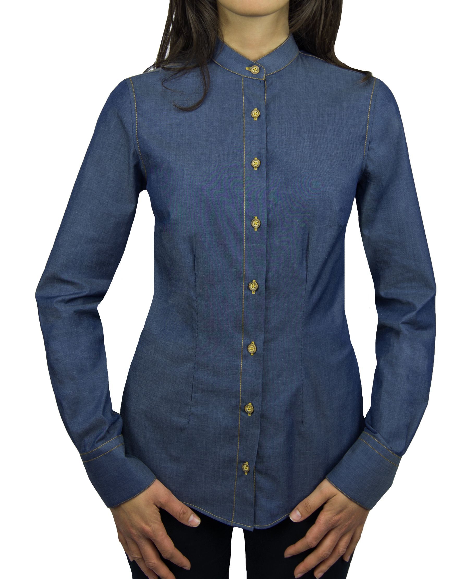 finest selection 19e3e 6f094 Camicia Denim Donna Collo Coreana. camicia coreana da donna ...