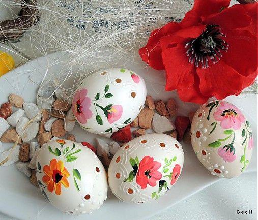 Kraslice s ružovým kvetom by Cecil - SAShE.sk - Handmade Veľká Noc
