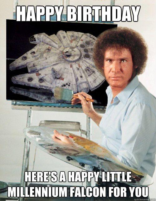 nerdy happy birthday Happy Birthday Here's a happy little Millennium Falcon for you  nerdy happy birthday