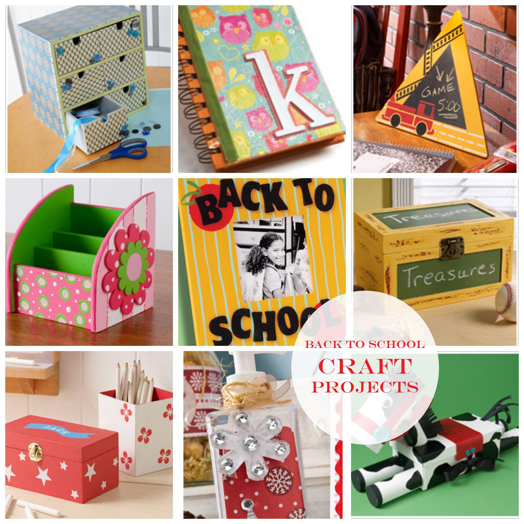 Back to school craft project ideas diy crafts for School diy ideas