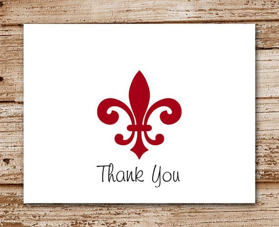 Set of 8 Fleur de Lis Thank You Cards  by CelebrateLilThings, $12.00