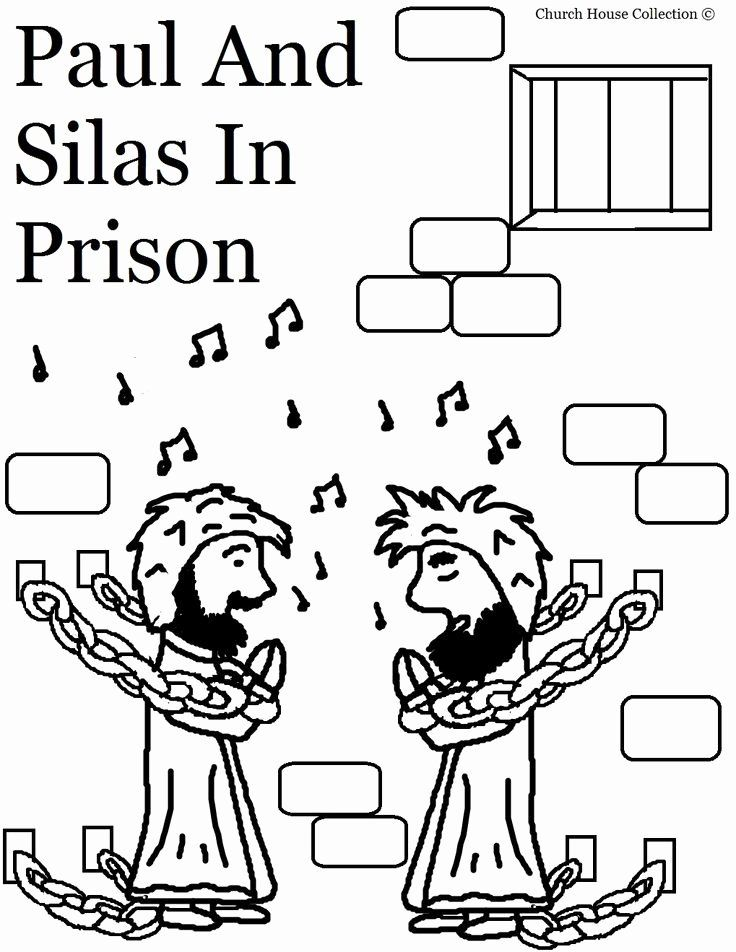Paul and Silas In Jail Coloring Page Elegant Paul and