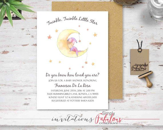 Pink Le Little Star Baby Shower Invitation First Birthday