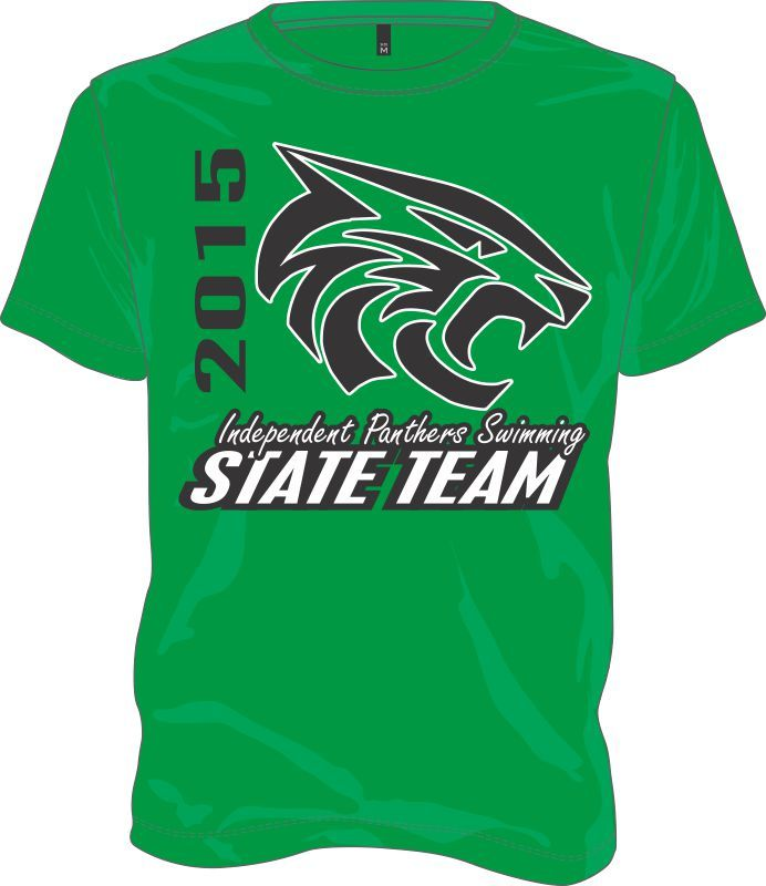 e851a2ba Swimming State Team Custom Print Swim T-Shirts | Workout | Swim team ...