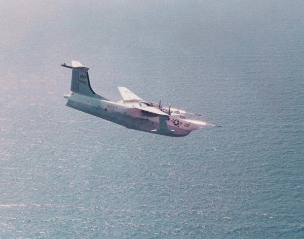 Martin P5M Marlin flying boat entered service with the U.S. Navy in 1952. Marlins could launch rockets to distract gunners long enough to complete a bomb or torpedo run.