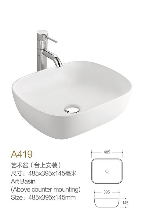 Product Name Bathroom Basins Model No Db A419 Dimension 485x395x145mm 1 Inch 25 4 Mm Volume Bathroom Basin Basin Sink Bathroom Square Bathroom Sink
