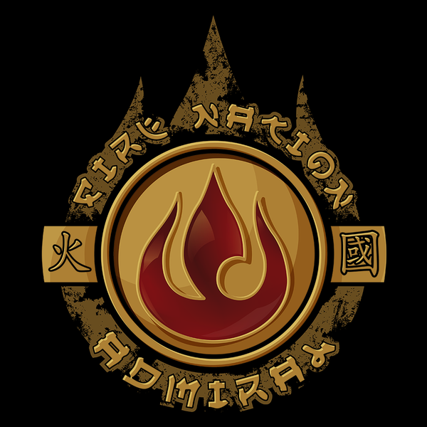Fire Nation Admiral T Shirt Gift Trending Design T Shirt Fire Nation The Last Avatar Art Inspiration