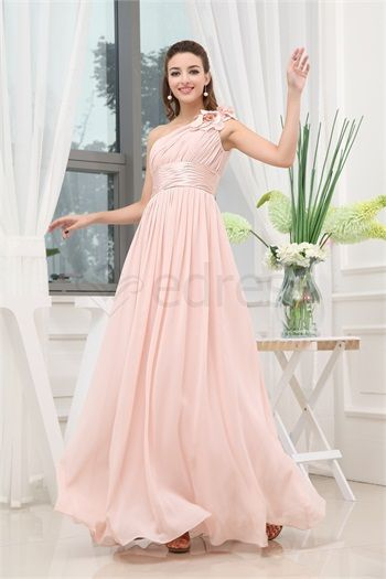 One Shoulder Sleeveless A-Line Bridesmaid Dress http://www.SzWedress.com/One-Shoulder-Sleeveless-A-Line-Bridesmaid-Dress-p19500.html