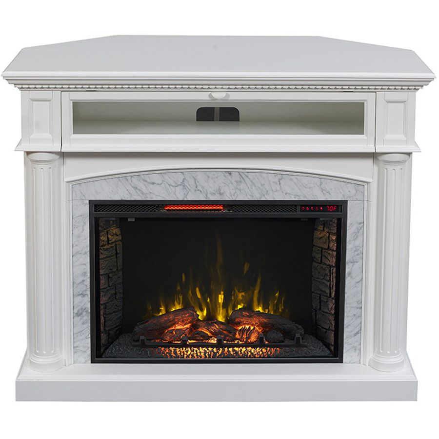 scott living 54 in w 5 200 btu white painted mdf infrared quartz