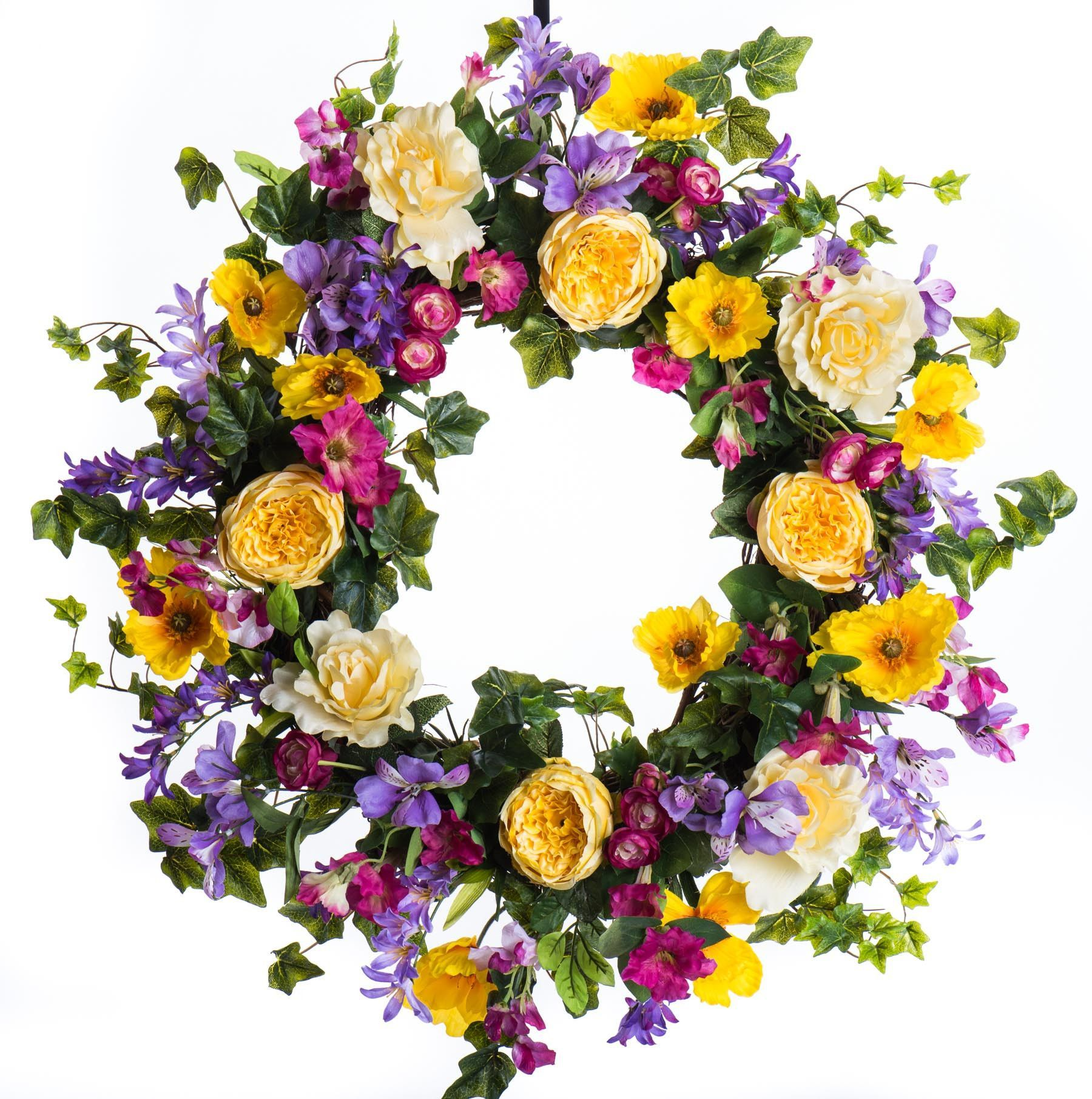 Rose and Petunia Spring & Summer Wreath