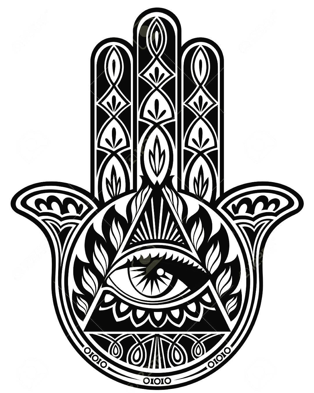 Hasma Hand It Means Happiness Tattoo Designs Drawings For New Ink