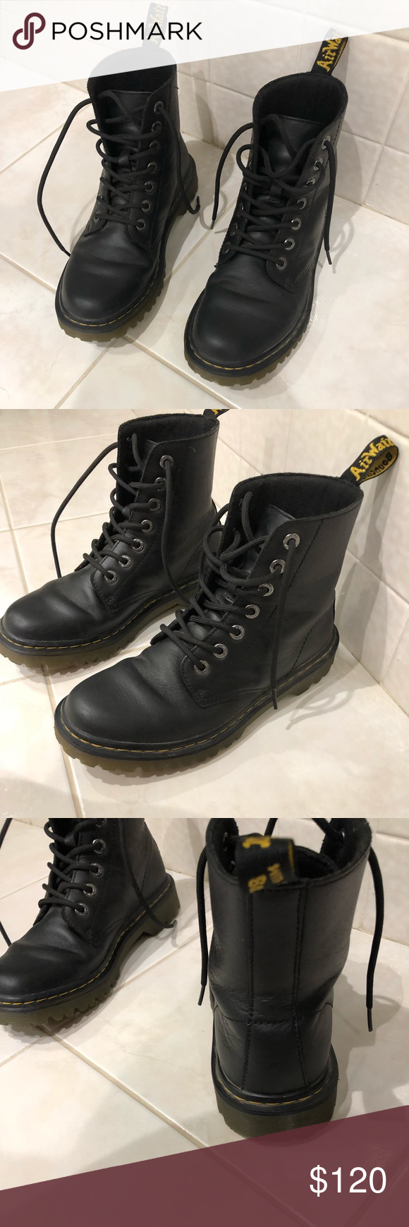 Dr. Martens Luana Leather Mid-Top Boots