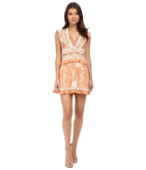 For Love And Lemons Mia Paneled Mini Dress Peach 6pm Com Clothes