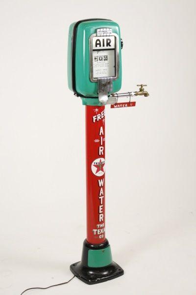 Eco Gilbarco Model 98 Texaco Air Pump W Light Kit Vintage Gas Pumps Old Gas Stations Gas Pumps