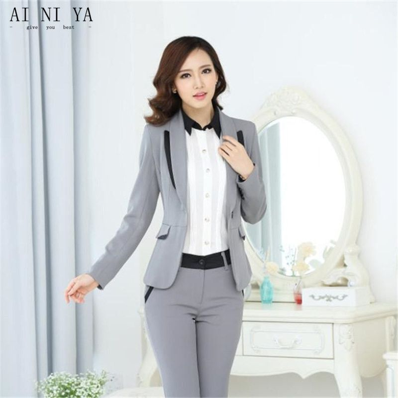 Find More Pant Suits Information About Jacket Pants Light Gray