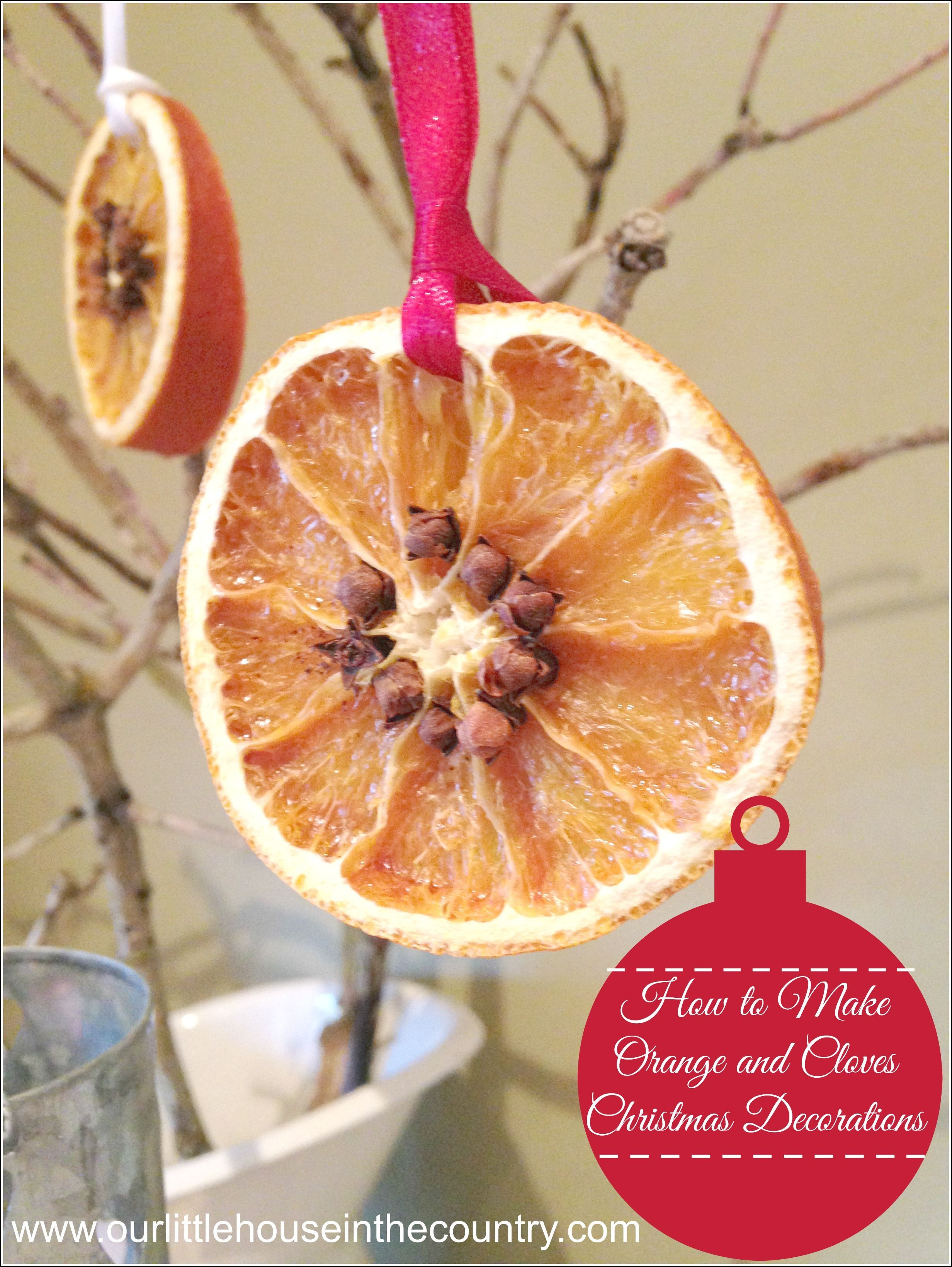 How To Make Dried Orange And Cloves Slices Christmas Decorations